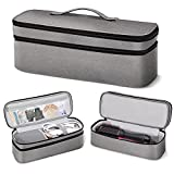 SITHON Double-Layer Travel Carrying Case for Revlon One-Step Hair Dryer/Volumizer/Styler, Water Resistant Storage Bag for Revlon, Hot Tools, TDYJWELL, Bongtai Hair Dryer Brush (Bag Only), Gray