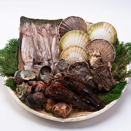 海鮮6種のBBQセット〔伊勢海老・サザエ・真牡蠣・スルメイカ・ホタテ貝・はまぐり〕