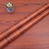 Decorflix Vinilo Papel Adhesivo para Muebles Para forrar amarios mesas estanterías paredes puertas. Vinilo Imitacion Madera Vintage Decorativo Autoadhesivo (Cerezo vetas Café, 60x300cm)