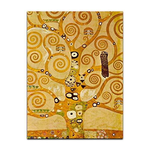 Kunstdruck Poster - Gustav Klimt Lebensbaum 30x40 cm ca. A3 - Alte Meister Bild ohne Rahmen