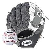 Franklin Sports Kids Baseball Gloves - Meshtek Child's Tball Glove + Ball Set - Boys + Girls Teeball Mitt Set - Kids + Toddler - Right Hand Throw - 9.5'