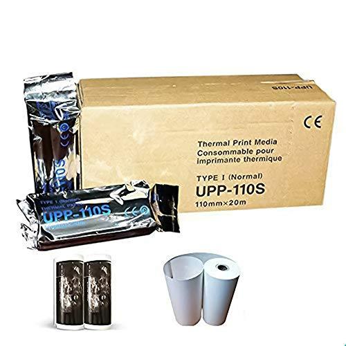 UPP 110S Chimloon - Papel térmico para impresora de ultrasonido tipo I, color blanco y negro para...