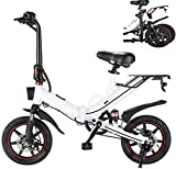 Desconocido Coolautoparts Bicicleta Eléctrica Plegable 14 Pulgadas Ciclomotor Bicicletas Bici de Ciudad/Montaña 400W 25km/h Bateria de Litio 48V 15AH de Aluminio Display LCD para Adultos [EU Stock]