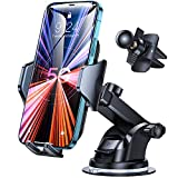 Andobil Car Phone Mount Easy Clamp 3.0, [The Most Stable Version] Universal [Military-Grade] Hands-Free Cell Phone Holder for Car Dashboard Air Vent Windshield Compatible with All Phones and Cars