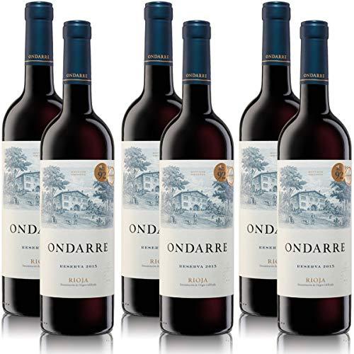 6 Flaschen Spanischer Rotwein prämiert Ondarre Bodegas Reserva Rioja, trocken (6 x 0,75 l)