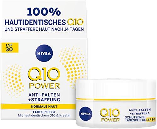 NIVEA Q10 Power Anti-Falten plus Straffung Schützende Tagespflege im 1er Pack (1 x 50ml), Gesichtscreme mit LSF 30, Tagescreme für glattere & jünger aussehende Haut