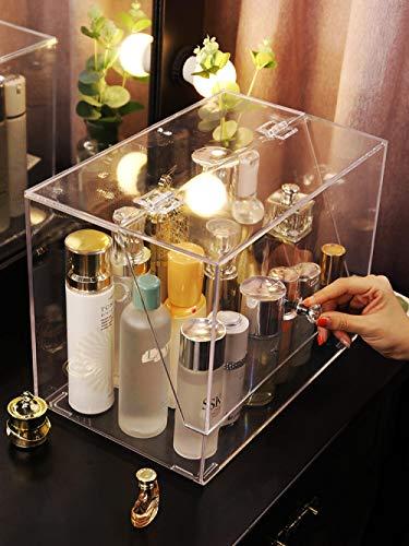 Aufbewahrungskistenet Rot Staubdicht Kosmetik Aufbewahrungsbox Acryl Puppe Puppe Lagerregal Schmuck...