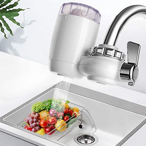 SILENTLY Küchenarmatur Filter, Wasserhahn Wasserfilteranlage, 5-Stufige Filtration/Doppel Wasser Outlet Entwurf/Transparent Fenstergestaltung, Für Küche/Bad