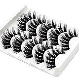JUANJUAN Pestañas postizas 5 Pares Pestañas Postizas Largas Gruesas Esponjoso Volumen Múltiples Capas Pestañas De Ojos Falsos para Maquillaje Eyelashes Extensión Reutilizable
