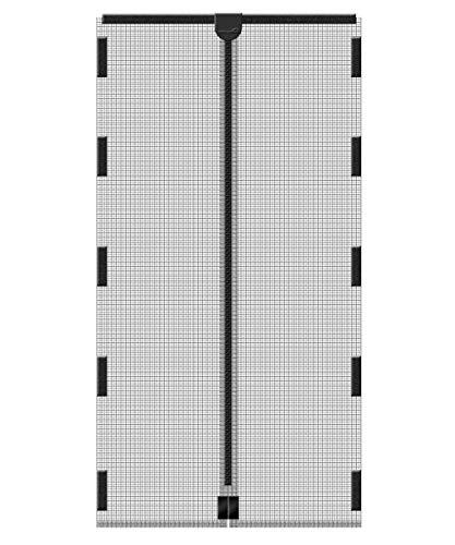 Schellenberg 50641 Mosquitera magnética de protección anti insectos para puertas, Antracita, 120 x 240 cm