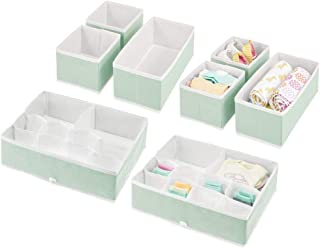 mDesign Soft Fabric Dresser Drawer and Closet Storage Organizer Set for Child/Kids Room, Nursery - Includes Organizer Bins...