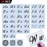 Letter Stencils39 Pcs Large Size Letter TemplatesMore Than 100 Designs Reusable Art Craft StencilsFit for Painting on Wood/Wall/Fabric/Rock