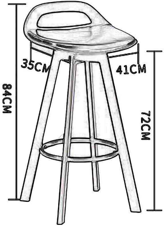 J&LILI Coussin épais de Style européen de Chaise Haute rotative de Tissu de Chaise de Barre PP Multicolore Confortable facultatif,C B