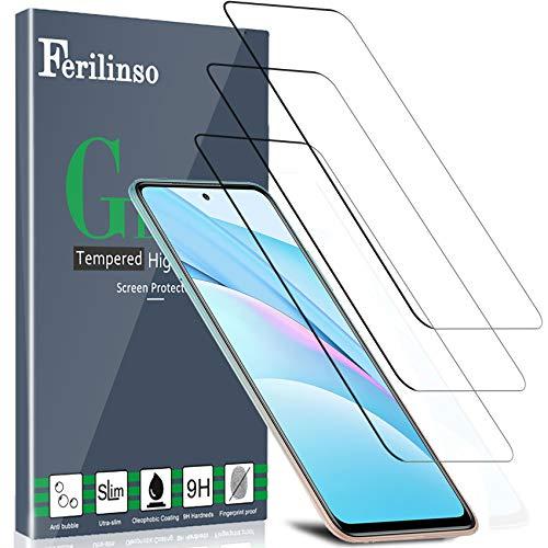 Ferilinso [3 Pezzi per Pellicola Protettiva Vetro Temperato Xiaomi Mi 10T Lite/Mi 10T/10T PRO 5G, Pellicola Protettiva Vetro Temperato Xiaomi...