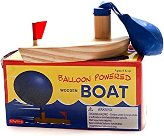Ocamo Bath Toys Baby Bath Toys Balloon Powered Wooden Boat in Bathtub Classic Funny Game Bath Boat Toys for Children