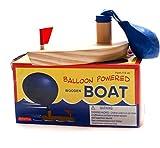 elegantstunning Baby-Badespielzeug, Ballonbetriebenes Holzboot in Badewanne, klassisches lustiges Spiel, Badeschiff, Spielzeug für Kinder, Weihnachten für Kinder