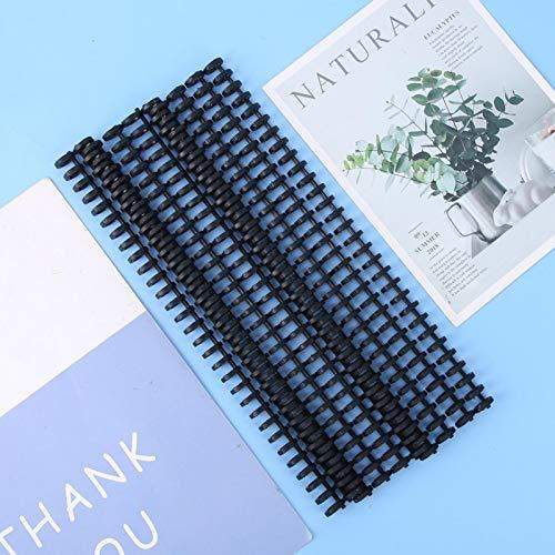 Waterdichte bindklem strips financiële tegoedbonnen(10mm black 10 strips)