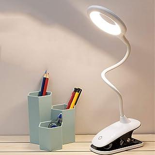 Lampe de lecture LED, 3 couleurs et 3 luminosités tactiles, lampe de chevet à intensité variable, sans fil, lampe de lectu...