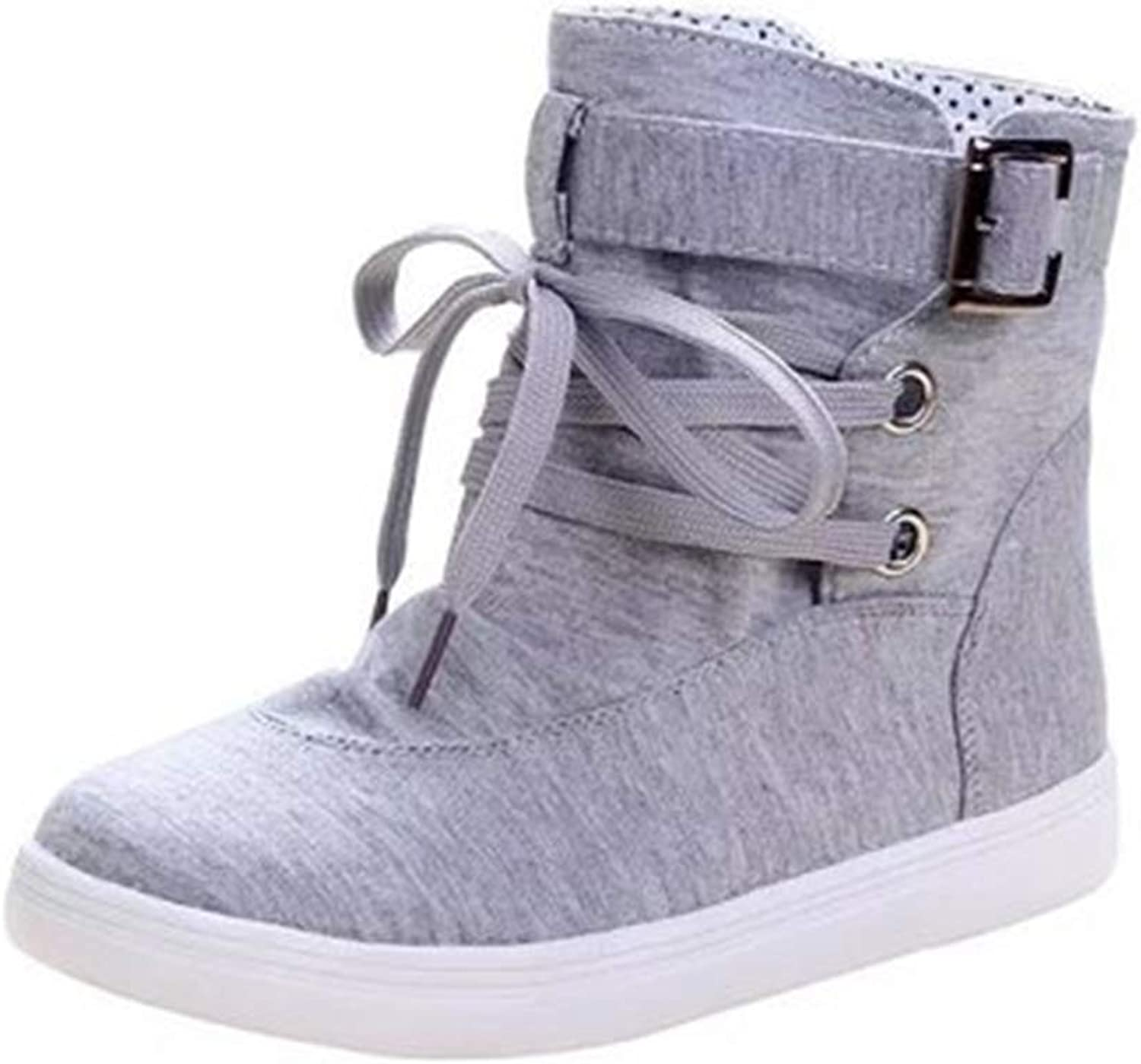 Unisex High Top Classic Canvas Sneakers Fashion Lace-up shoes