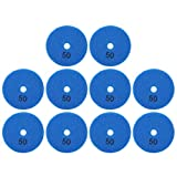 Juego de 10 almohadillas para ruedas de 8 cm para pulir piedras de mármol y hormigón, 50 mallas de diamante, para amoladoras totales con cojinetes y ejes