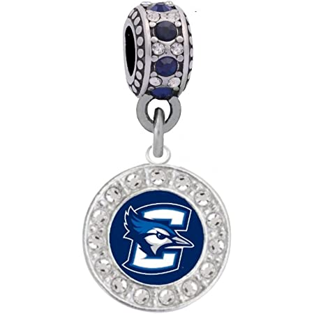 Final Touch Gifts New Mexico State University Crystal Logo Charm Fits European Style Large Hole Bead Bracelets