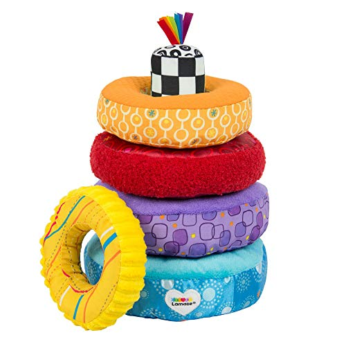 LAMAZE - Rainbow Stacking Rings Toy, Help Baby Develop Fine Motor Skills and...
