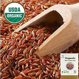 100% USDA Certified - Organic Thai Red Jasmine Rice - Gluten Free - Whole Grain Superfood - from Thailand