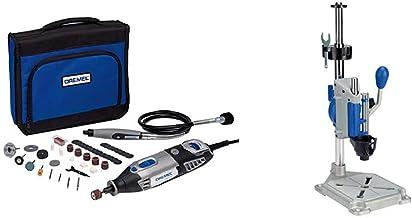 Dremel 4000 - Multiherramienta, 175 W, kit con 1 complemento, 45 accesorios + Workstation 220 - Centro de trabajo y soporte para taladro o soporte para multiherramienta