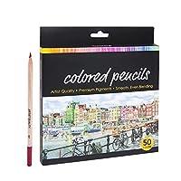 大人のぬりえブックアーティスト描画スケッチ工芸のための色鉛筆色鉛筆セット 絵画の図面 スケッチ 工芸品 大人の絵画が理想的 (Color : 50color)