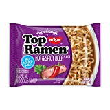 Nissin Top Ramen, Hot & Spicy Beef Flavor, The Original Instant Ramen, 3oz. (24-Pack)
