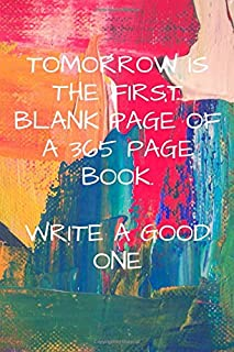Best tomorrow is the first blank page Reviews