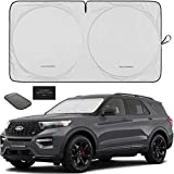 Autoamerics 1-Piece Windshield Sun Shade Foldable Car Front Window Sunshade for Most Sedans