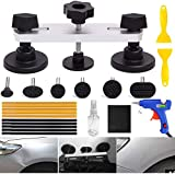 YOOHE 22PCS Auto Body Paintless Dent Removal Tools Kit Bridge Dent Puller Kits with Hot Melt Glue Gun and Glue Sticks