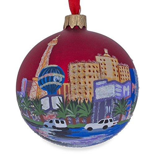 BESTPYSANKY Las Vegas, Nevada Glass Ball Christmas Ornament