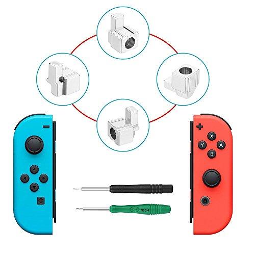 Nintendo Switch Joy-Con交換部品 ジョイコン 尾錠 修理パーツ コントローラー Joy-Conのレール構造で耐久性の問題解決 コントローラーのパーツ バックルロック 合金材質