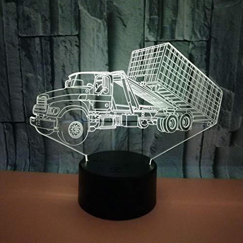 Yujzpl 3D-illusielamp Led-nachtlampje, USB-aangedreven 7 kleuren Knipperende aanraakschakelaar Slaapkamer Decoratie Verlichting voor kinderen Kerstcadeau-Lossen van vrachtwagens