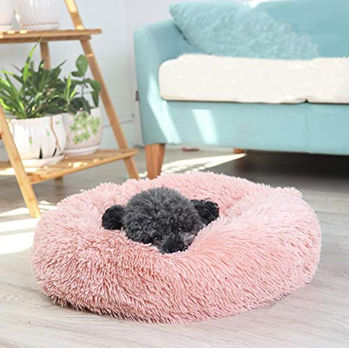 Monba Faux Fur Pet Sofa Soft Pet Cover Premium Warm Dog Beds Cuddler with Soft Detachable Cushion for Cat and Large Extra Large Dog/Pet-70cm-Pink