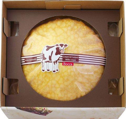 牧家 (bocca) ミルクレープギフト 840g 新鮮な生クリームと特製のカスタードクリームの2層仕立て