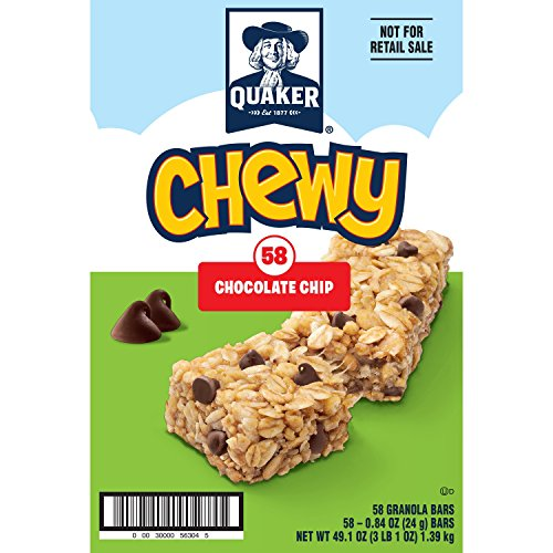 Quaker Chewy Granola Bars Chocolate Chip 58-Pack Now $7.05 (Was $11.99)