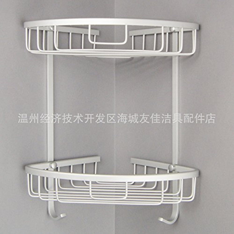 Aluminum dual-space triangular racks corner shelves bathroom Bathroom rack Double-layer mesh