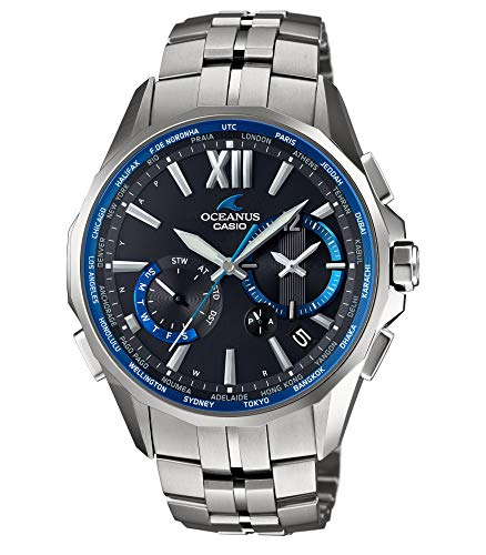 『[カシオ] 腕時計 オシアナス Manta 電波ソーラー OCW-S3400-1AJF シルバー』の1枚目の画像