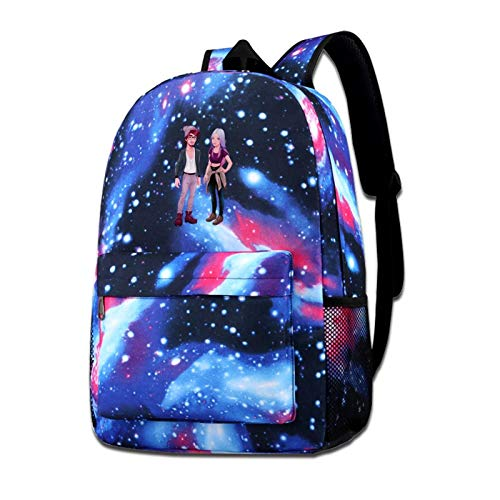 Zxhalkhfd Young Men And Women Background Travel Backpack College School Business Blue One Size