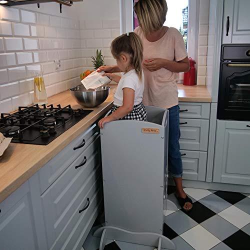 KiddyMoon Montessori Aprendizaje / Torre de observación ST-001 Ayudante de cocina, Madera contrachapada / natural