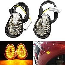 2 PCS Amber LED Turn Signal Indicator Light Lamp Flush Mount For Yamaha YZF R1 R3 R6 R6S FZ6 FZ1 FZ Fazer FZ6R FZ07 FZ8 FZ09 TMAX MT-07 MT-09 Smoked Lens