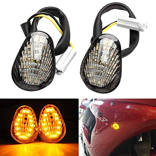 2x Amber LED Turn Signal Indicator Light Flush Mount For Yamaha YZF R1 R6