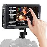 Moman M5 Monitor-Esterno-Reflex-4K-DSLR 5.5 Pollici Touch Screen 450nits, Monitor da Campo 1920 * 1080 Full HD con 3D LUTs/HDR, Monitor Mirrorless Compatibile per Canon, Nikon, Sony, Panasonic