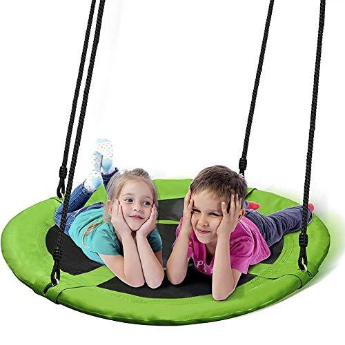 CJCJ-LOVE Enfants Balançoire, Nid Enfants Ronde Chaise Hamac pour Jardin Intérieur Extérieur, 900D Oxford Tissu Swings Plaque Diamètre Swing 100Cm,C