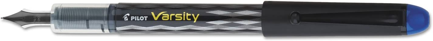 Blue Ink PILOT Varsity Disposable Fountain Pens Medium Point Stainless Steel Nib New