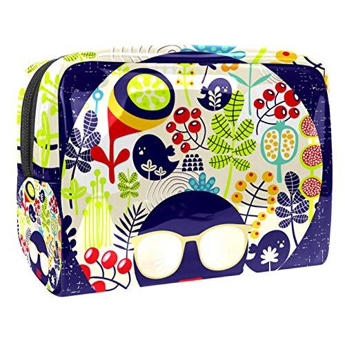 Bolsa de cosméticos para Mujeres Arte Abstracto Bolsas de Maquillaje espaciosas Neceser de Viaje Organizador de Accesorios