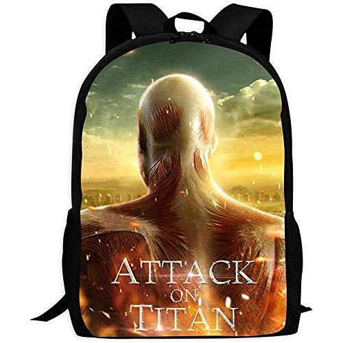 Schulranzen,at-Tack_On-Ti-Tan Muskel Mon-Ster Studentenrucksack, Bequeme Kinder-Büchertaschen Für Teenager-Schulcamping,43x28x16cm